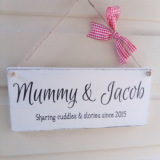 Personalised Wooden Plaque - Cuddles & Stories